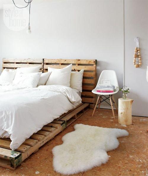Modne łóżko Z Europalet