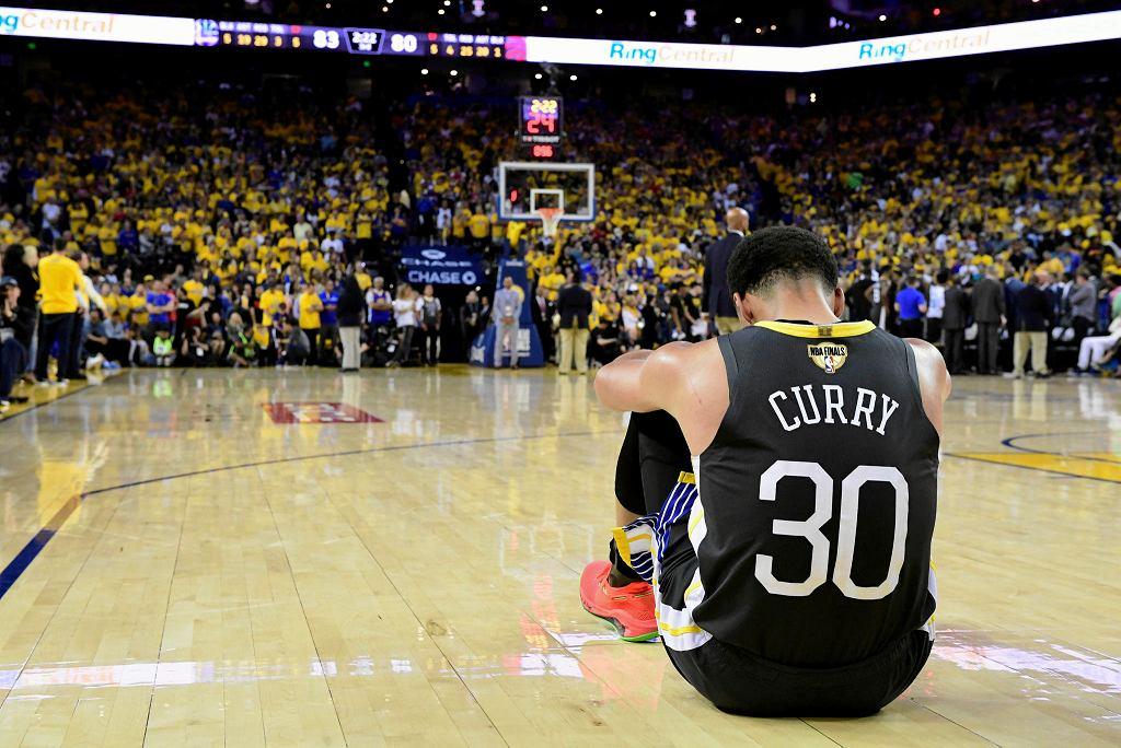 Stephen Curry mocno zareagował na śmierć George'a Floyda. Zdjęcie Curry'ego z meczu finałowego NBA Golden State Warriors - Toronto Raptors, 13 czerwca 2019 r.