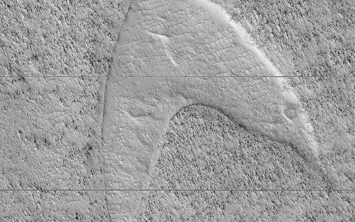 Zdjęcie powierzchni Marsa wykonane przez sondę Mars Reconnaissance Orbiter.