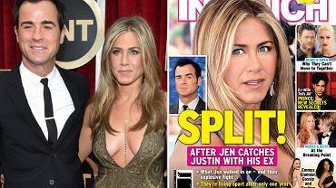 "Jennifer Aniston i Justin Theroux/ okładka ""InTouch Weekly"""