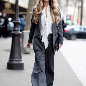 Garnitur damski - street fashion Paryż fot. IMAXTREE