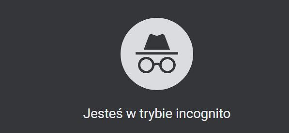 Tryb Incognito w Google Chrome