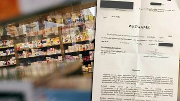 Wezwanie ws. zakupu leków