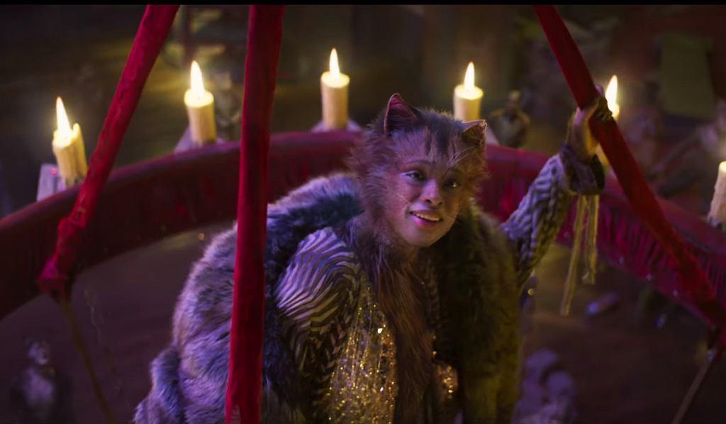 kadr ze zwiastuna do filmowej wersji musicalu 'Koty'