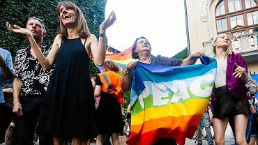 Wiec solidarności ze społacznością LGBT