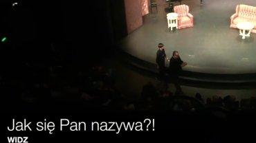 Kadr z incydentu z Teatru Polonia