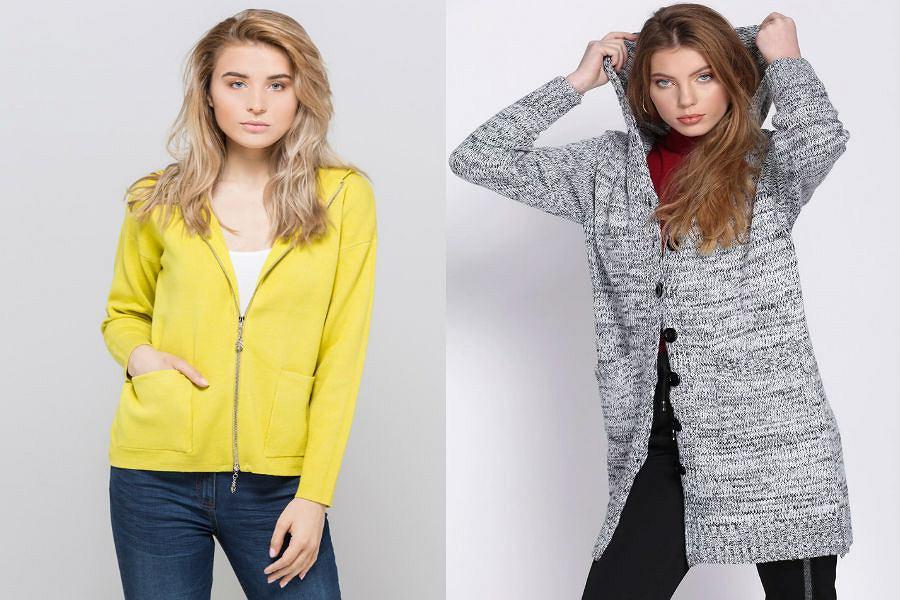 Swetry damskie rozpinane z kapturem
