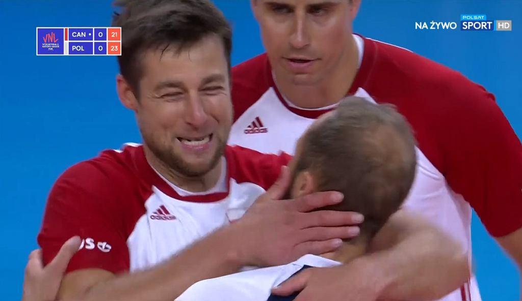 Michał Kubiak w meczu Polska - Kanada. Liga Narodów 2021
