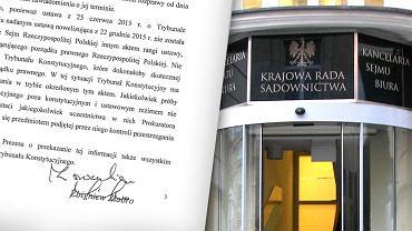 KRS w komunikacie krytykuje list Ziobry do TK