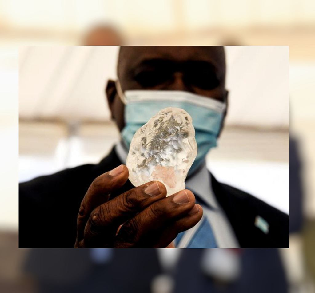 Nadzwyczajny kamień znaleziony w Botswanie
