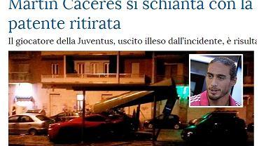 Wypadek Martina Caceresa
