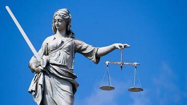Posąg Justitii w Dublinie