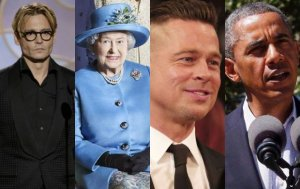 Johnny Depp, Elżbieta II, Brad Pitt, Barack Obama