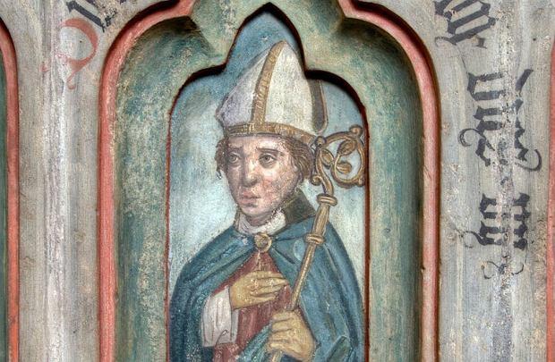 Wizerunek biskupa Thietmara w katedrze w Merseburgu
