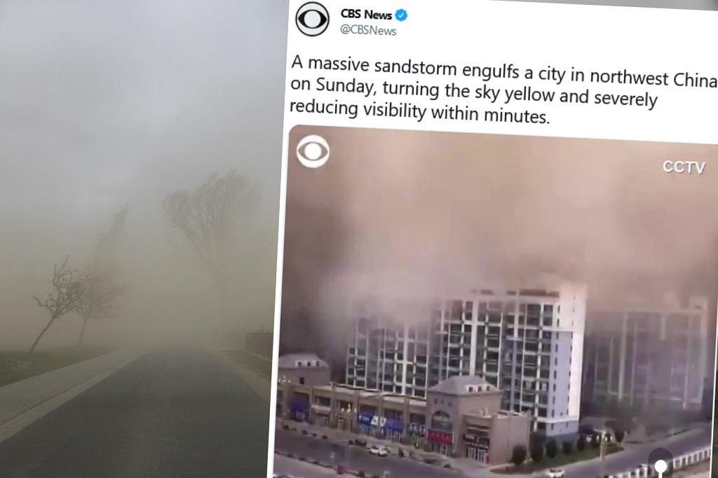 Burza piaskowa w Chinach