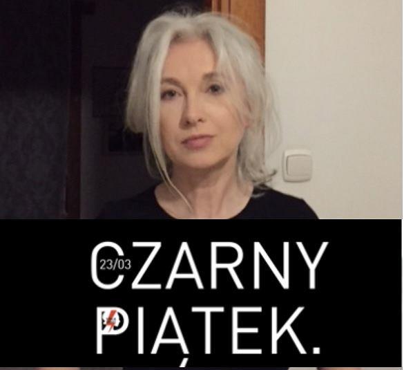 - Trwa czarna msza - mówi Manuela Gretkowska.