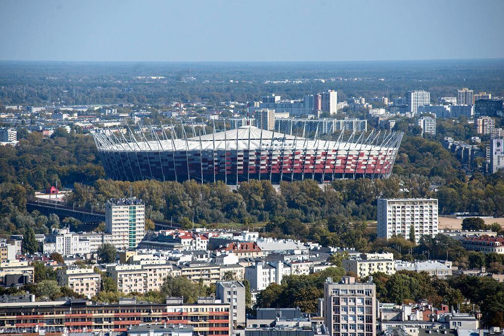 *Panorama Warszawy z Palacu Kultury i Nauki