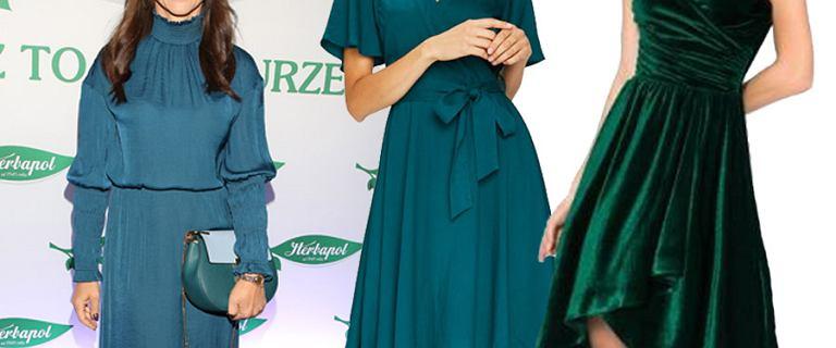 Szmaragdowa sukienka to hit tego sezonu! Idealnie sprawdzi się w świątecznych stylizacjach