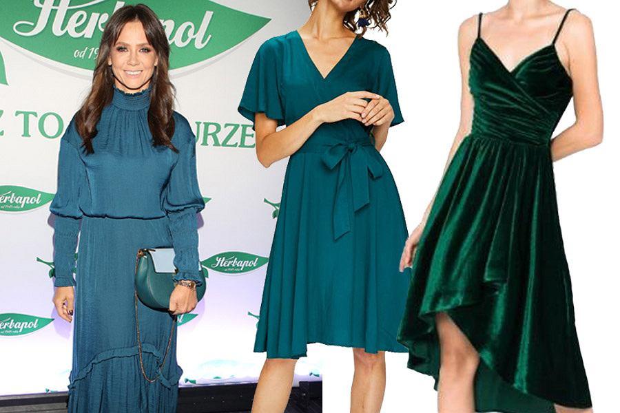 d346c28616 Szmaragdowa sukienka to hit tego sezonu! Idealnie sprawdzi się w wielu  stylizacjach. Mamy dla Ciebie modele na każdą okazję