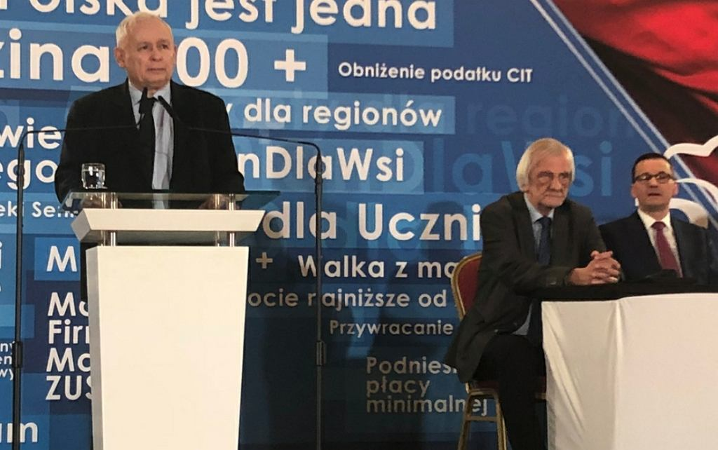 Jarosław Kaczyński w Jachrance
