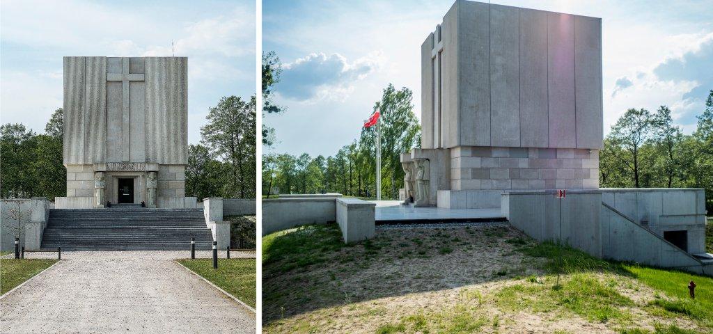 Zgodnie z projektem Romualda Zerycha i Borysa Zinserlinga reprezentacyjne schody prowadzą do prostopadłościennej kaplicy (fot. Filip Springer)
