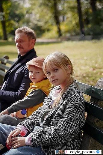 Cezary Pazura z dziećmi