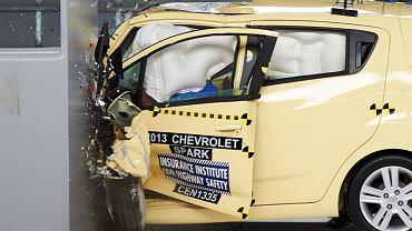 Test zderzeniowy IIHS - Chevrolet Spark