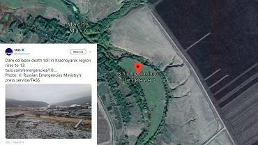 W kopalni złota w Kraju Krasnojarskim doszło do tragedii, fot. Google maps/ Twitter.com