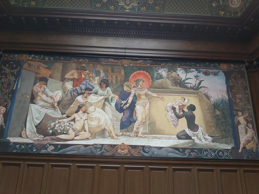 Fresk 'Znalezienie Mojżesza