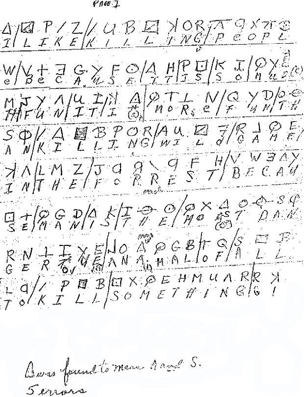Rozszyfrowany pierwszy szyfrogram Zodiaka