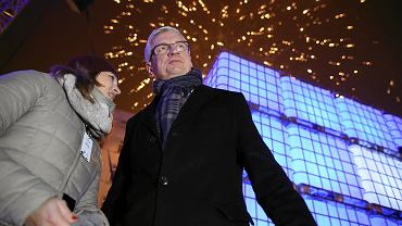 Jacek Jaśkowiak podczas Sylwestra Miejskiego na Placu Wolności