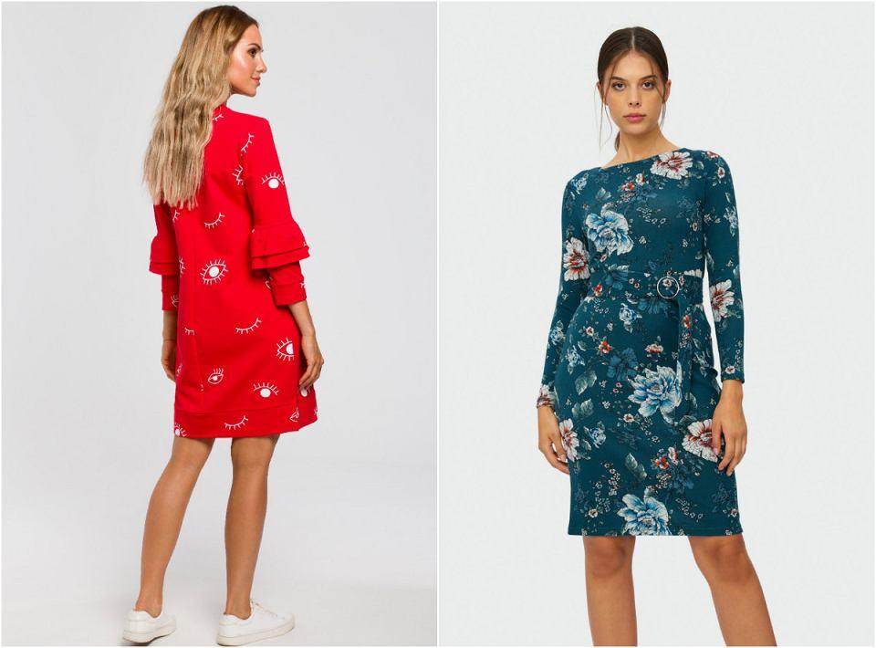 Dzianinowe sukienki z detalami