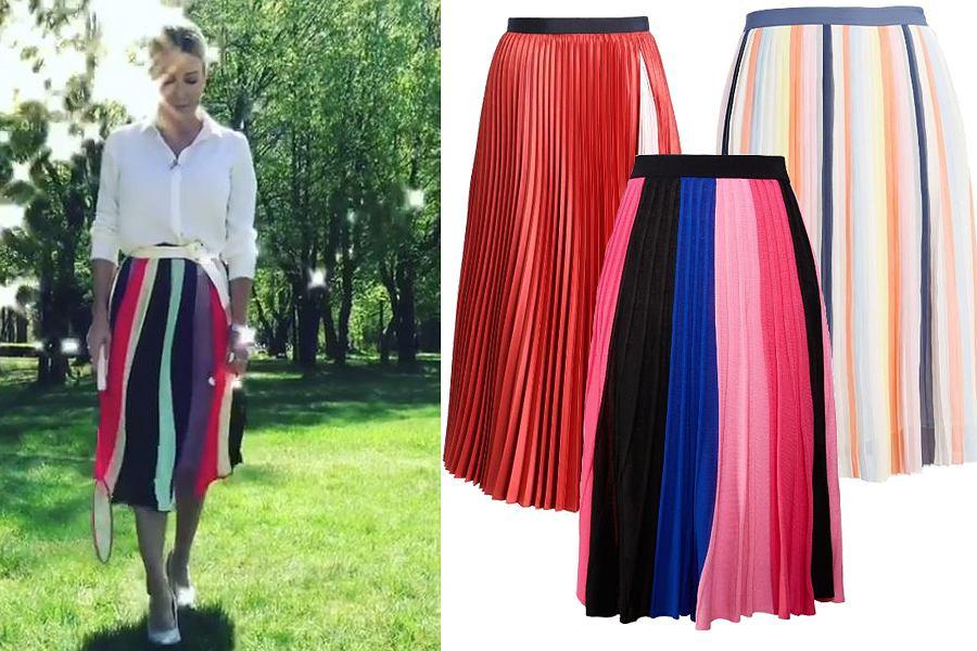 Kolaż, zwiewna spódnica/Materiały partnera