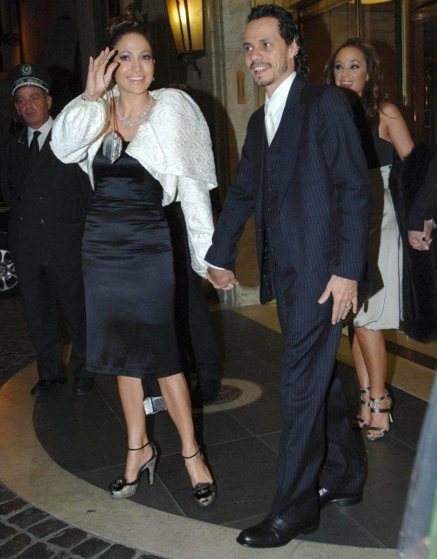 Jennifer Lopez, Marc Anthony i Leah Remini dzień przed ślubem Toma Cruise'a i Katie Holmes
