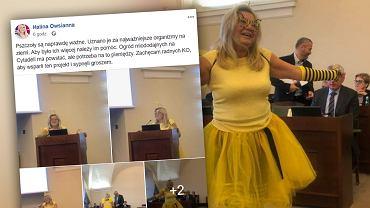 Radna Halina Owsianna przebrała się za pszczołę