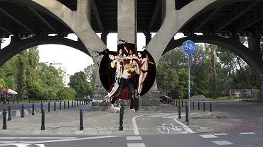 Graffiti na moście Poniatowskiego