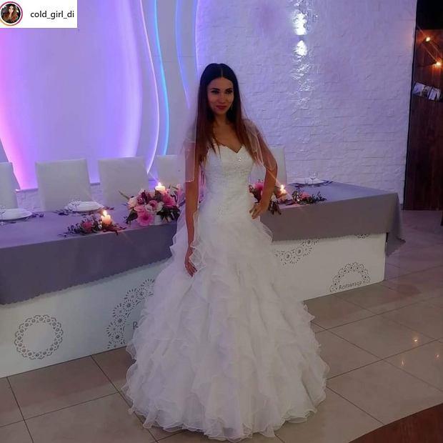 Diana w sukni ślubnej