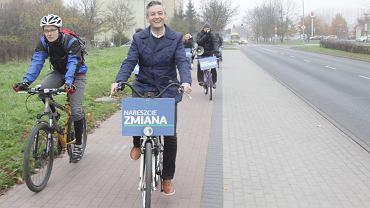 Robert Biedroń, prezydent Słupska jest znany z miłości do rowerów.