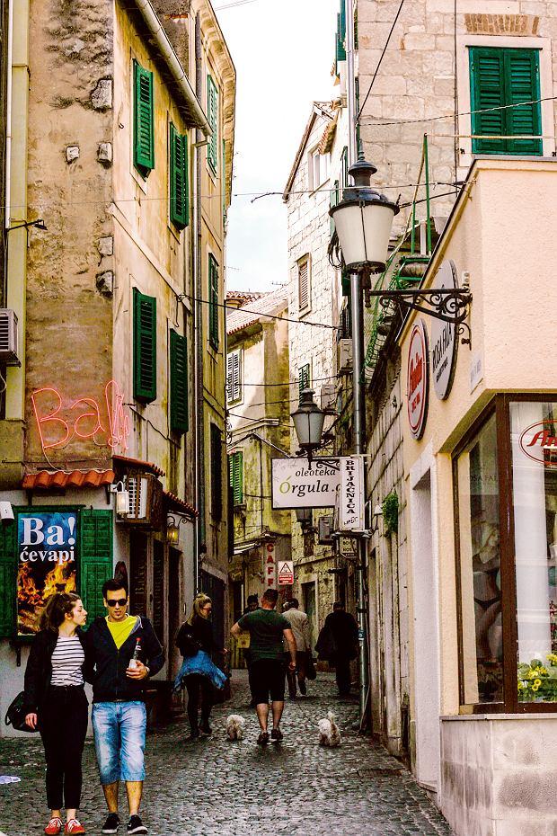 Stare miasto wSplicie. Przyjemnie zwiedza się je na wiosnę i jesienią, nie jest wtedy tak zatłoczone jak wszczycie sezonu