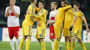 Ukraińcy cieszą się ze zwycięstwa nad Polską