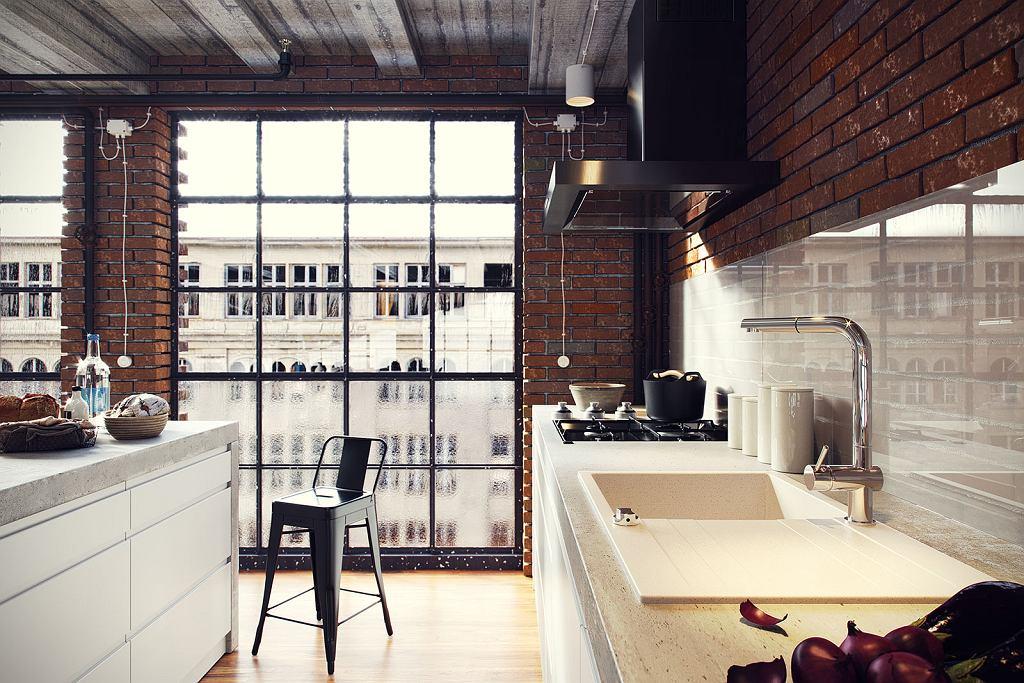 Kuchnia loftowa - połączenie starego z nowym