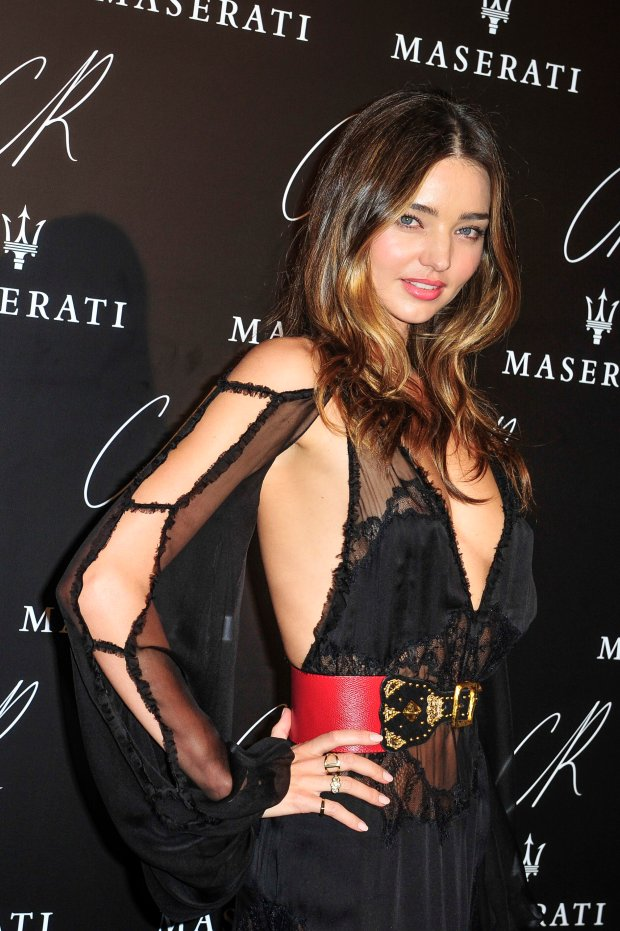 Miranda Kerr attends Carine Roitfeld & Stephen Gan celebration of the launch of CR Fashion Book N.5 in Paris, Tuesday, Sept. 30, 2014.(AP Photo/Zacharie Scheurer)