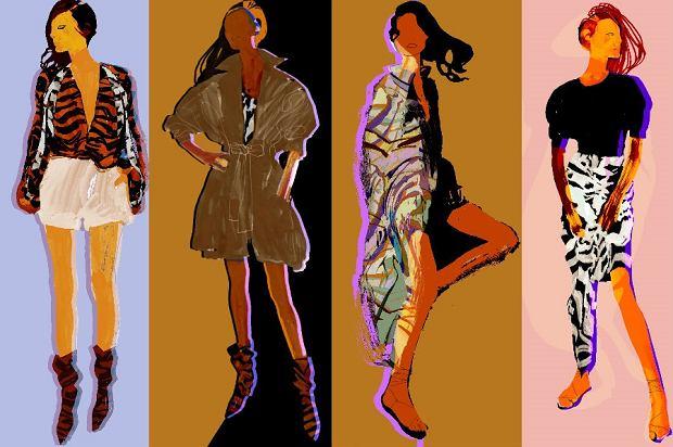 Grafiki przedstawiające nową kolekcję H&M Studio