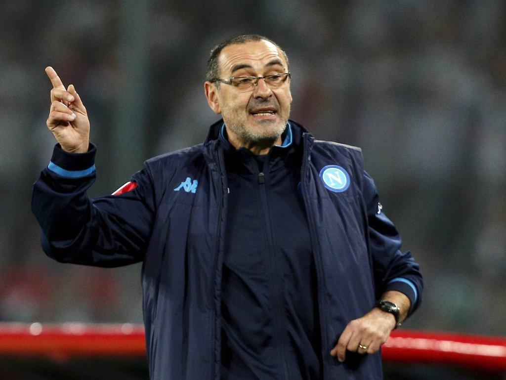 Napoli - Legia 5:2. Trener Maurizio Sarri