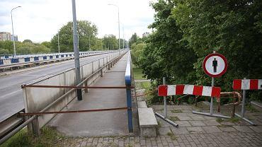 Zamknięty wiadukt przy ul. Monte Cassino w Koszalinie, maj 2021