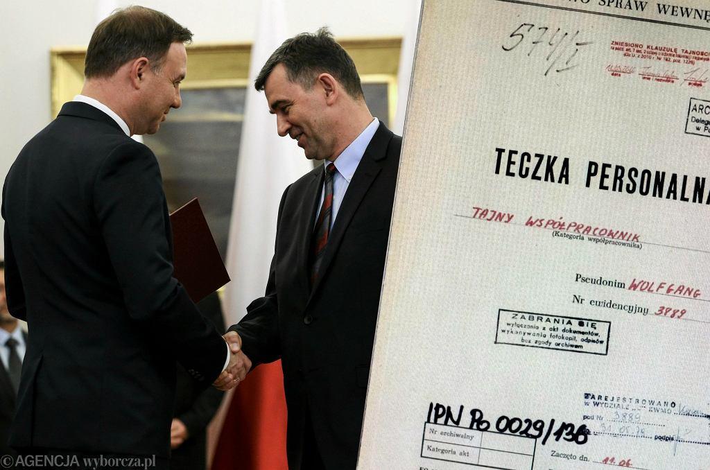 Nazwisko Andrzeja Przyłębskego w teczce TW 'Wolfgang'