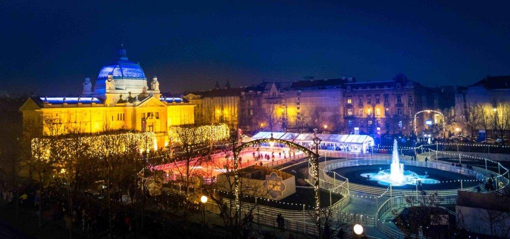 Świąteczny jarmark w Zagrzebiu