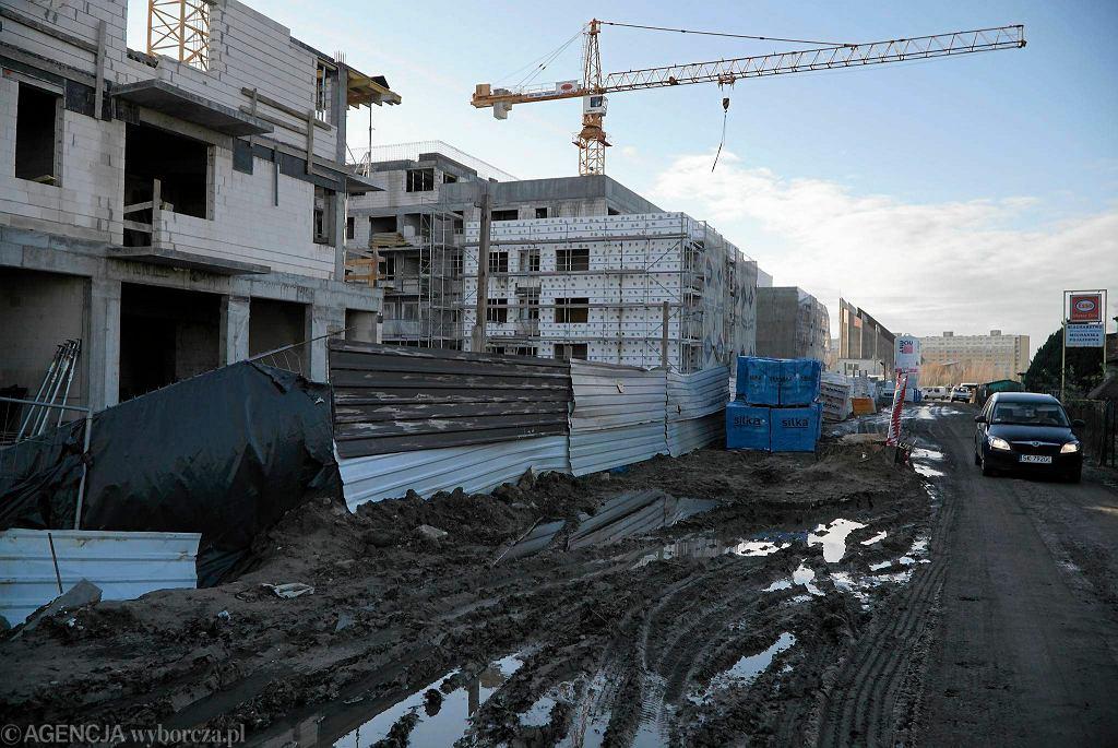Budowa bloku Wechty przy Morzyczańskiej - grudzień 2015
