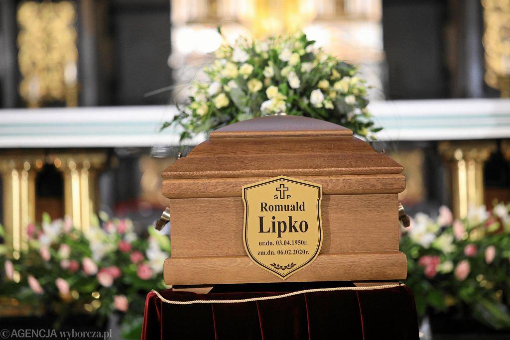 Lublin. Uroczystości pogrzebowe Romualda Lipki, lidera zespołu Budka Suflera