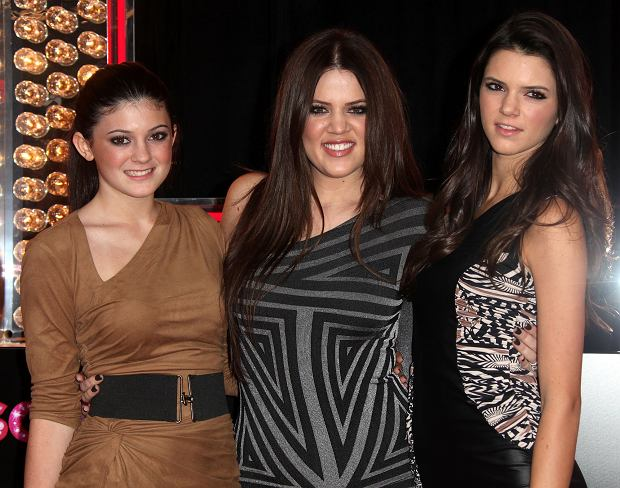 Kylie Jenner, Khloe Kardsahian & Kendall Jenner during the premiere of the new movie from Screen Gems BURLESQUE, held at Graumans Chinese Theatre, on November 15, 2010, in Los Angeles.